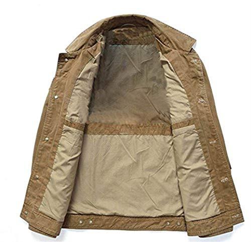 Attività Urbana Cappotto Cappotto Bavero Outwear E Uomo Khaki Inverno Inverno Slim Bag Di Tipo Cappotto Esterno Coat Lunga Manica Giacca Autunno Fit Multi Moda Purpose 7qTTxwYU
