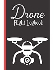 Drone Flight Log book: Drone Pilot Notebook to Keep Record Of Flight Date, Drone Model Name, Wind Speed, Wind Direction, Weather, Temp., Crew,Flight Mission, Location (from-to) Time, Minutes of flight, Battery & More - Gifts For Drone Pilot & Operators