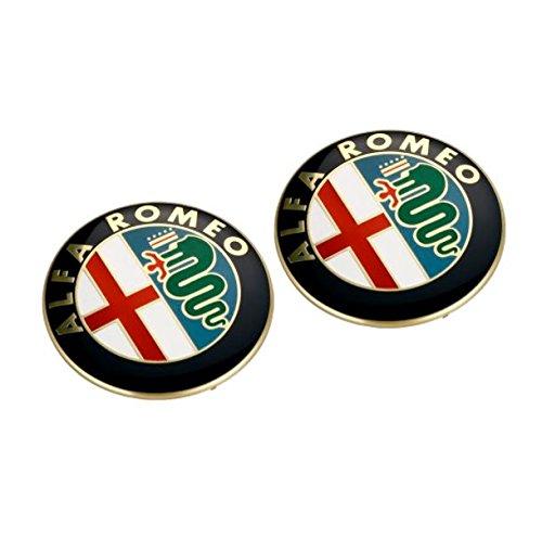 2 x15mm logotipo de la insignia del emblema de la placa de mando a distancia para ALFA ROMEO como se muestra CARKEYSPARE