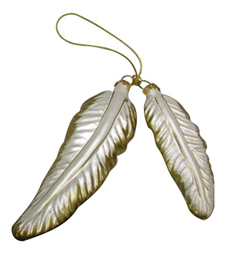 Ornaments Christmas Feather (Bronner's Guardian Angel Feather Wings Glass Ornament)