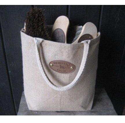 Borstiq Banana Horse Grooming Brush Kit (5 Pieces) - Includes Ergo Massage Brush and Stud Spanner. Sold with Hemp Bag.