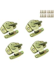 Mazaashop Metal Table Locks Dining Training Table Buckles Connectors Table Leaf Hardware Accessories Iron Color-zinc Plating 4PCS