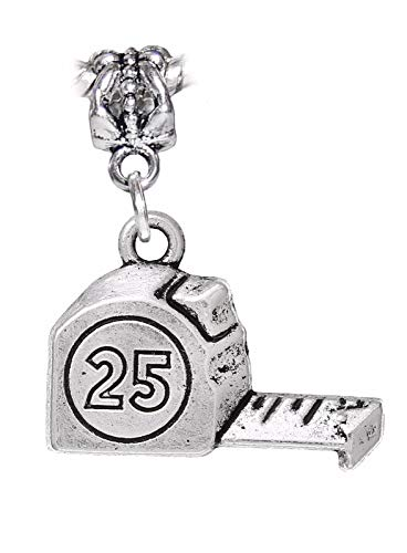 Charm - Jewelry - Pendant - Measuring Tape Measure Tool Contractor for Bracelet