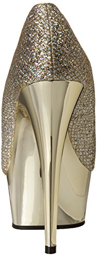 Gltr Pleaser Multi Gold gold Mujer 685g Tacones Chrome Delight gzxgPqY