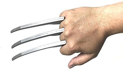 Wolverine Foam Hand Claw Halloween costume accessory Logan X men (Wolverine X Men Claw Silver)