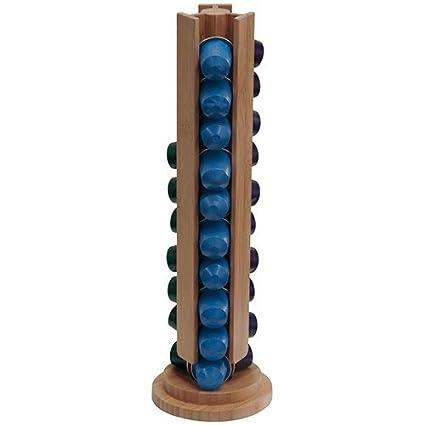 Dispensador torre madera 30 capsulas nespresso c12
