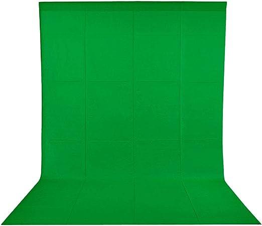 Todo para el streamer: BDDFOTO Croma fondo chroma key 1.8x2.8m Pantalla verde Fondo de estudio fotográfico, puro algodón Muselina Fondo de pantalla plegable para fotografía, video y televisión green screen