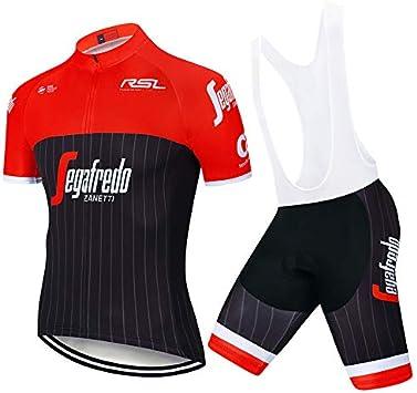 Ciclismo Maillot Verano Maillot MTB Hombre + Pantalones Cortos Culote Mangas Cortos de Ciclismo Conjunto de Ropa Maillot Entretiempo para Deportes al Aire Libre Ciclo Bicicleta: Amazon.es: Deportes y aire libre