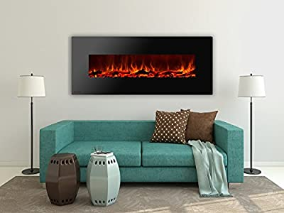 Ignis Royal 60 inch Wall Mounted Electric Fireplace with Logs
