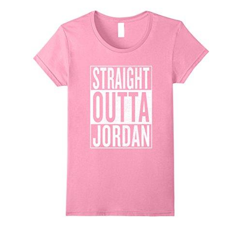 Womens Straight Outta Jordan Great Travel & Gift Idea T-Shirt Medium Pink
