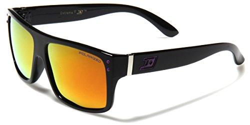 Dxtreme Men's Polarized Flat Top Wayfarer Style Sunglasses BLACK - - Sunglasses Snowboarding
