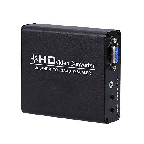 (Paladia MHL/ HDMI to VGA Converter Auto Scaler Video Connector Adapter Digital HDMI to Analog PC RGB)