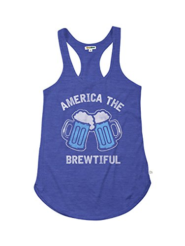 Tipsy Elves Women's Blue America The Brewtiful Tank: L -