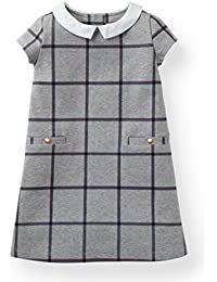 Girls' Ponte Dress with Collar Made with Organic Cotton