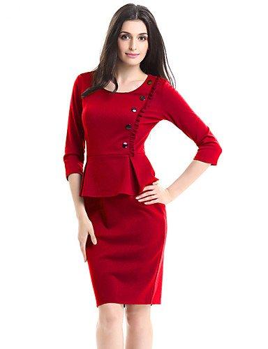 Amazon Gaolim Women Plus Size Work Bodycon Sheath Dress