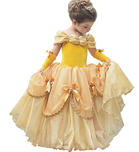 JYH Princess Belle Costumes for Girls Fancy Party