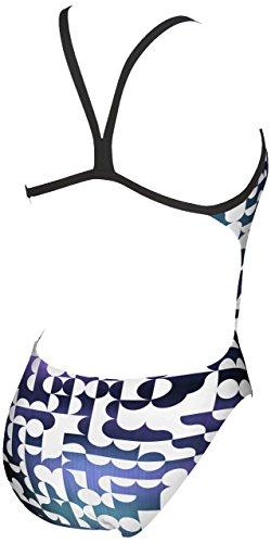 Dos De Combinaison Ouvert Mixte violet Mince Blur Pour Maillot Sangle Blanc Challenge Maxlife Bain Femme Arena z78vw