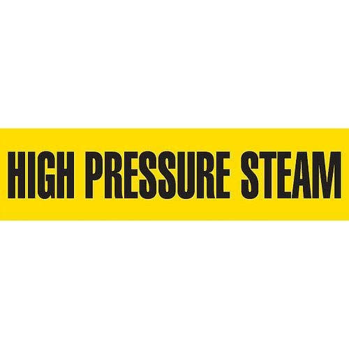 GHS Safety PM1163RA,''High Pressure Steam'' Plastic Sheet Pipe Marker, Pack of 100 pcs