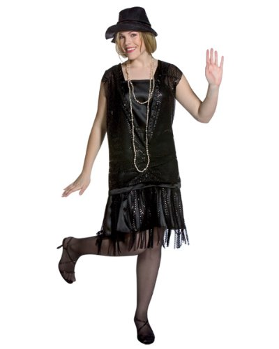 Zoogster Halloween Costumes (Gatsby Girl Black Adult Plus Size Costume)