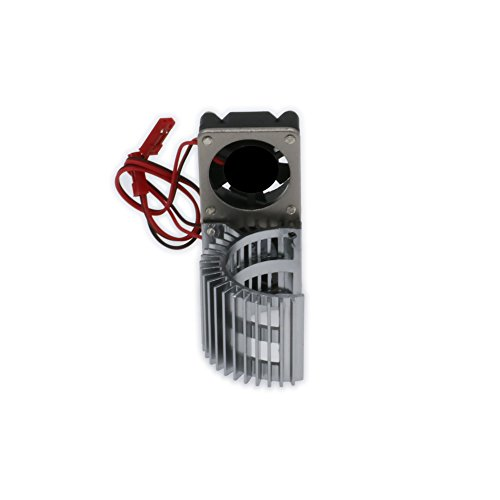 RCAWD Heat Sink Heatsink with Twin Fan Cooling Side Vent 540/545/550 N10074 Size Motor JST Alloy Aluminum for 1/10 RC Model Car - Twin Vent