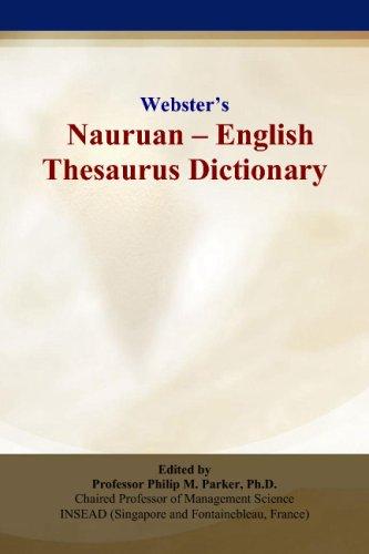 Webster's Nauruan - English Thesaurus Dictionary ebook