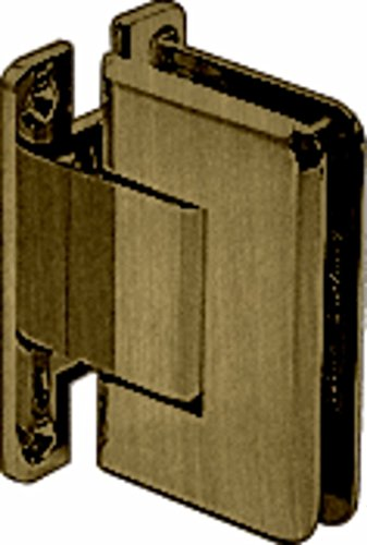- C.R. LAURENCE P1N337ABR CRL Antique Brass Pinnacle 337 Series Adjustable Wall Mount Full Back Plate Hinge