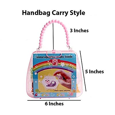 Arology Handbag Style 1200 Water Fuse Beads Set 12 Colors DIY Art Craft Spray Toys Kits for Kids, Refill Non-Toxic Water Sticky with Bead Sample Trays and Pattern Cards: Arts, Crafts & Sewing