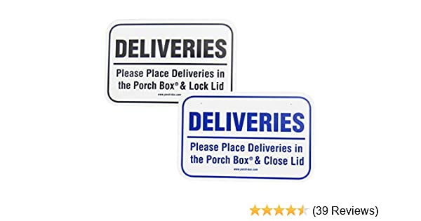 4 Wide x 2.75 Tall Porch Box Delivery Sign