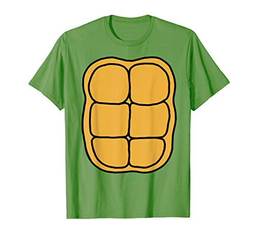 Turtle Shell Shirt KIDS DIY Halloween Costume FRONT + BACK]()