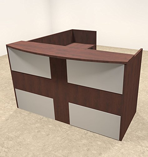 3pc L Shaped Modern Acrylic Panel Office Reception Desk, #OT-SUL-R22 by UTM