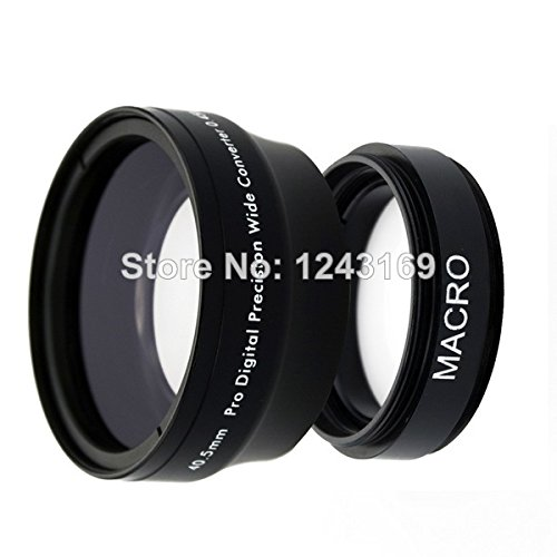 Price comparison product image BuyerKit(TM) 0.45x 40.5mm Wide Angle Lens with for Macro for Nikon 1 J1 V1 V2 for Samsung 20-50mm Lens NX1100 NX300 NX2000 NEX 6 5TL LF279-SZ