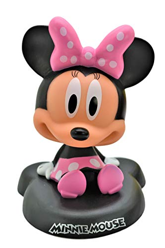 Minnie Mouse PVC Bobble Head Figure Car Dashboard Accessories Office Home Accessories Ultra Detail Doll . Pink