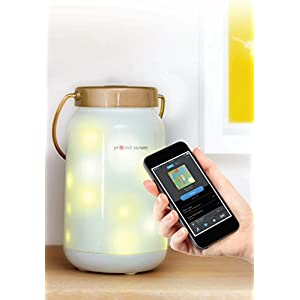 Night Lights for Kids, Baby White Noise Machine and Sound Soother – Project Nursery Dreamweaver Smart Night Light & Sleep Soother w/Bluetooth Firefly Jar