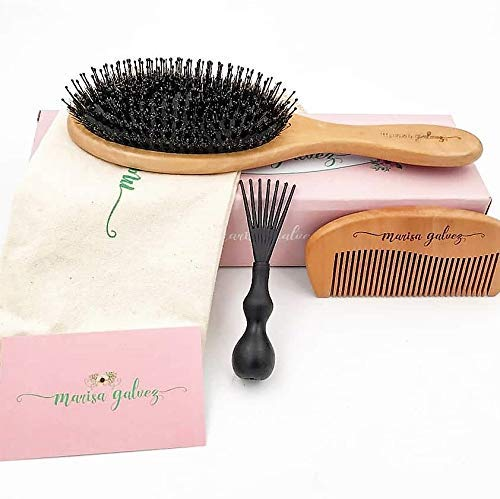 Hair Brushes for Women/Wooden Hair brush/Boar Bristle Hair Brush with Nylon Bristle for women