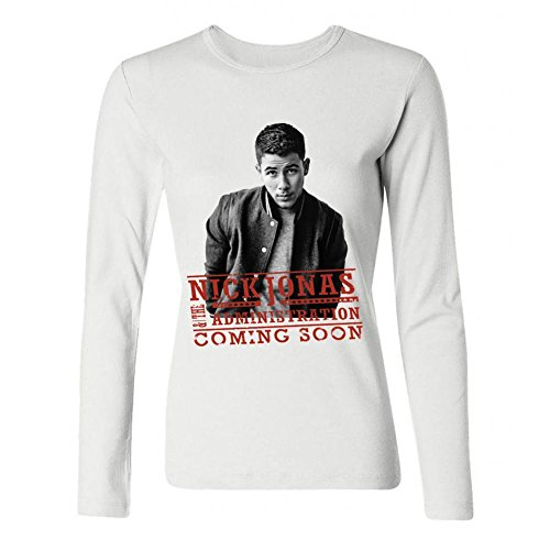 IIOPLO Women's Nick Jonas Jonas Brothers Long Sleeve T-shirt White M