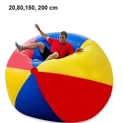 CIIY Swimming Pool Summer Inflatable Toys Beach Ball, Large Three-Color PVC Inflatable Ball Thickening Entertainment Decoration Ball Water Float Toys 1.5m