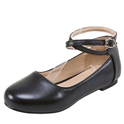 1 Sweet Women Flat Black Zanpa Shoes 1Pqcg