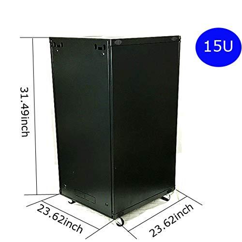 Network Cabinets Network Server Cabinet Rack Enclosure Meshed Door Lock (15U Network Cabinets) by TECHTONGDA (Image #4)