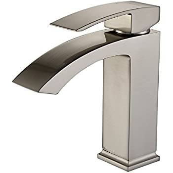 SonTiy Lead Free Bathroom Faucet Single Hole Best Modern Solid Brass ...