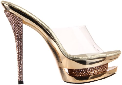 gold Mujer Sandalias Clr Chrome Pleaser 6PU8x