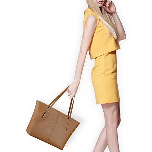 De Grande Bolso Hombro Negro Moda Marrón Coofit Mujer Tote Bolsos TR4nqgw4