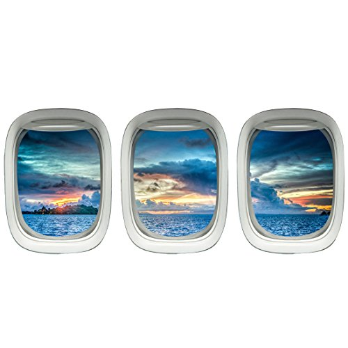 Aviation Decal - Aircraft Windows - Aviation Wall Decor Plane Window Clings Airplane Decal VWAQ-PPW23