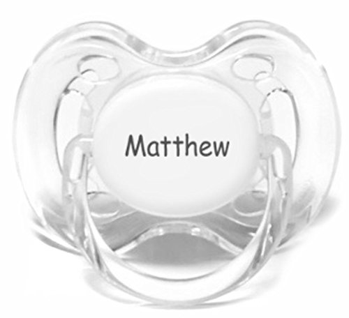 Philips AVENT Personalized Pacifiers by Pacidoodle CUSTOMIZE NOW Engraved with YOUR BABYS NAME OR MONOGRAM (Blue & White 0-6m)