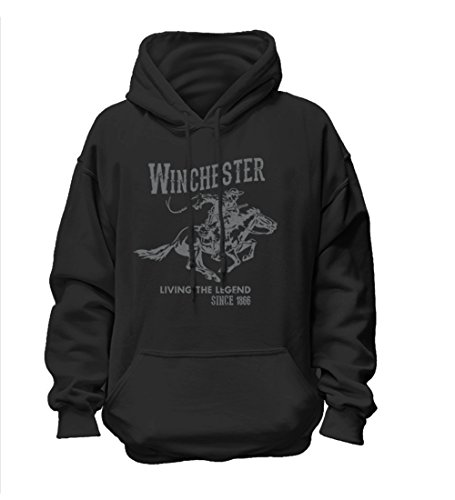 Winchester Official Mens Vintage Rider Classic Fleece Hoodie