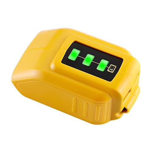 DSANKE USB Charger DCB200 DCB090 12V/20V Power Source for DEWALT Converters Adapter XR MAX 10.8v 12v 14.4V 18V 20V Lithium Battery