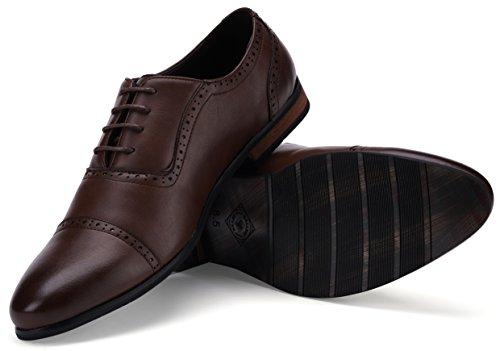 Captoe Design Oxford Shoe Chocolate Brown US-8.5D(M) | UK-41-42 | EU-8 by Gallery Seven (Image #3)