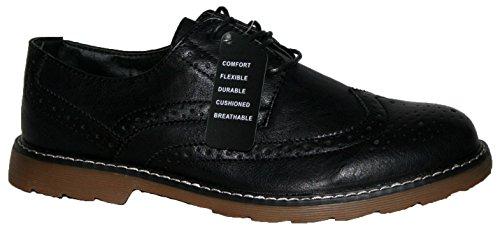 Herren Cushion Walk leicht Casual Schuhe, Schnürschuhe mit Brogue vorne Schwarz