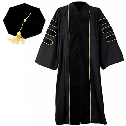 Doraemall PHD Gown/8 Sided Tam Set (Ph Graduation Gown D)