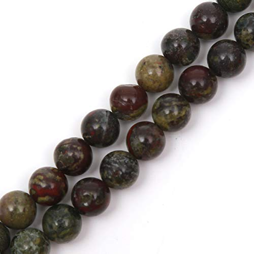 Jade Beads Necklace Earring - Genuine Natural Stone Beads Ocean Jade Round Loose Gemstone 8mm 1 Strand 15.5