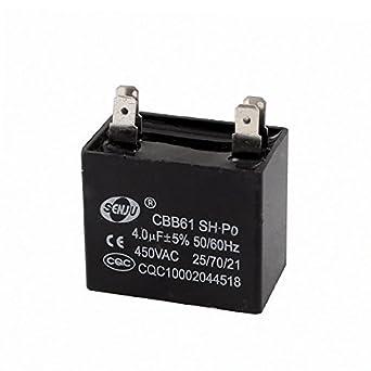 AC 450V 4uF 5% 4 pinos filme de polipropileno Ventilador de teto ...